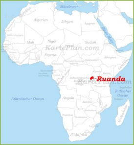 Ruanda auf der karte Afrikas