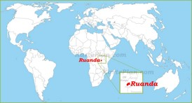 Ruanda auf der Weltkarte