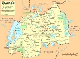 Ruanda politische karte