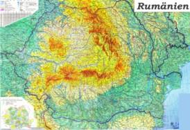 Große detaillierte karte von Rumänien