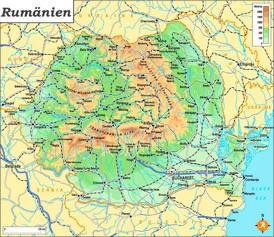 Physische landkarte von Rumänien