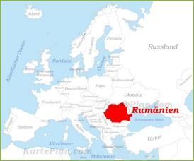 Rumänien auf der karte Europas