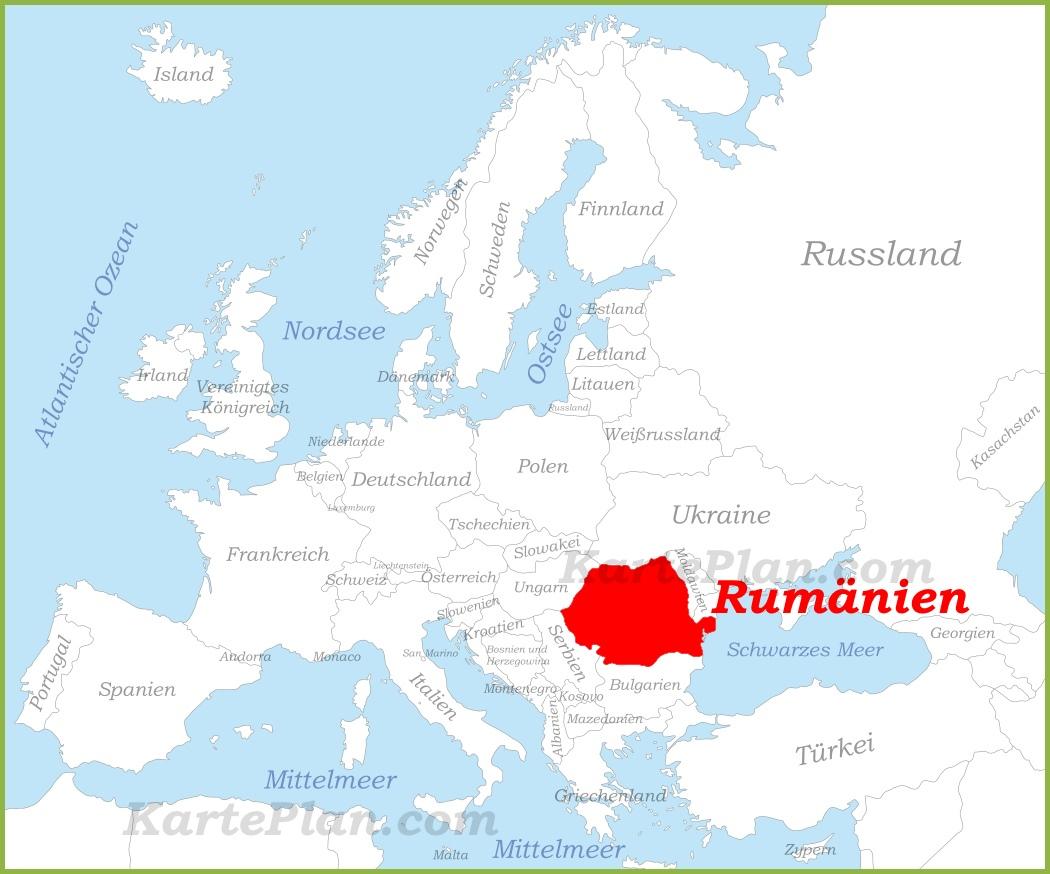 Rumanien Auf Der Karte Europas