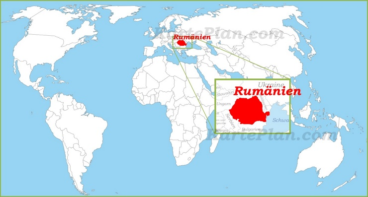 Rumänien auf der Weltkarte