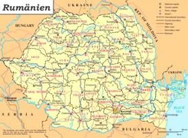 Rumänien politische karte