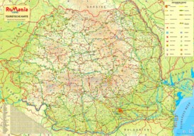 Rumänien touristische karte
