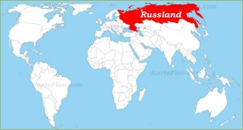 Russland auf der Weltkarte