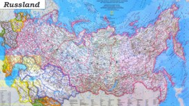 Russland karte mit Städten