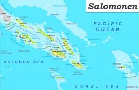 Große detaillierte karte von Salomonen