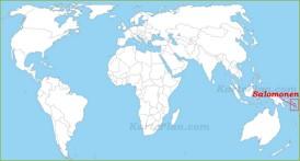 Salomonen auf der Weltkarte