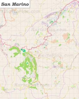 Große detaillierte karte von San Marino