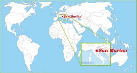 San Marino auf der Weltkarte