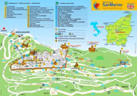 San Marino Sehenswürdigkeiten karte