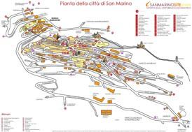 San Marino Stadtplan