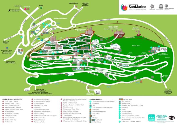 San Marino touristische karte