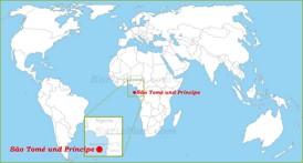São Tomé und Príncipe auf der Weltkarte