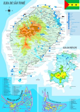 São Tomé und Príncipe touristische karte