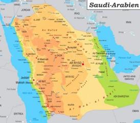Detaillierte karte von Saudi-Arabien