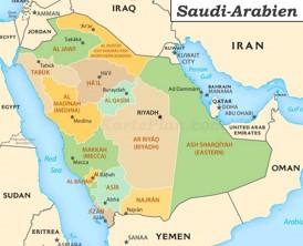Saudi-Arabien politische karte