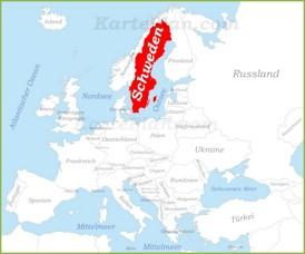 Schweden auf der karte Europas