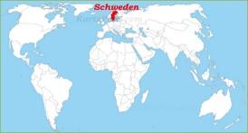 Schweden auf der Weltkarte