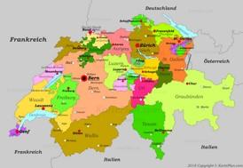 Schweiz karte mit städten