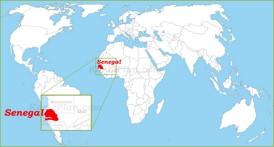 Senegal auf der Weltkarte