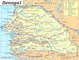 Senegal politische karte