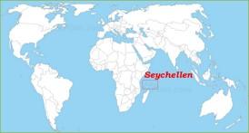 Seychellen auf der Weltkarte