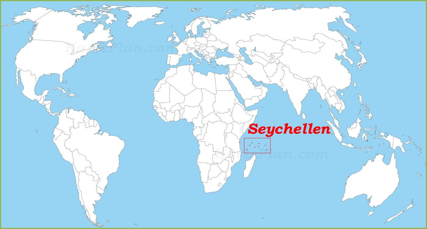 Karte Seychellen.Seychellen Auf Der Weltkarte