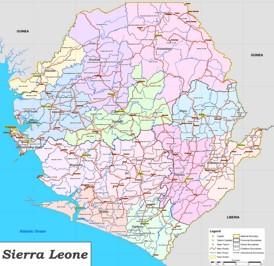 Große detaillierte karte von Sierra Leone