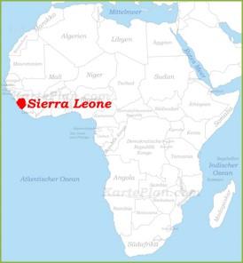 Sierra Leone auf der karte Afrikas