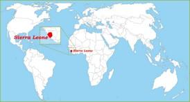 Sierra Leone auf der Weltkarte