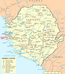 Sierra Leone politische karte