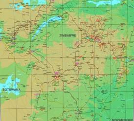 Große detaillierte karte von Simbabwe