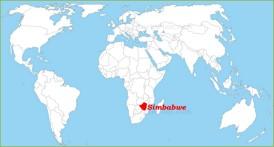 Simbabwe auf der Weltkarte