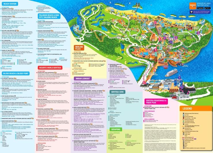 Karte von Sentosa