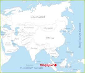 Singapur auf der karte Asiens