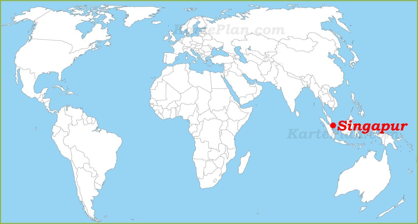 Singapur Auf Der Weltkarte