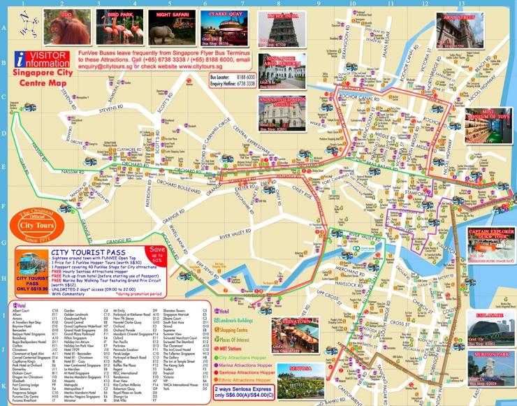 Singapur hotel karte