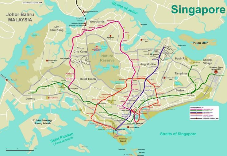 Singapur metro karte
