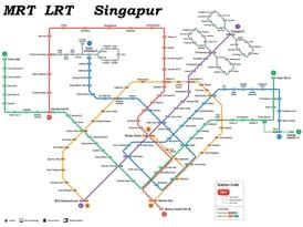 Singapur MRT und LRT karte