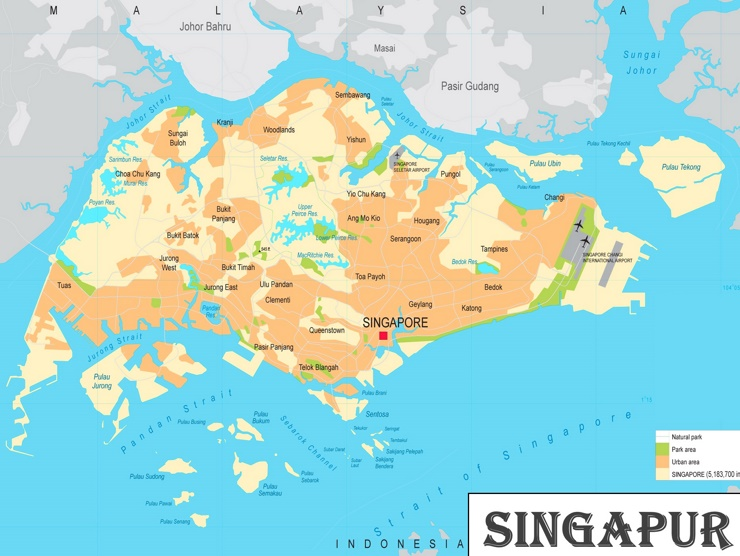 Singapur politische karte