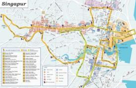 Singapur sehenswürdigkeiten karte
