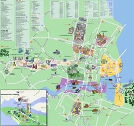 Singapur touristische karte