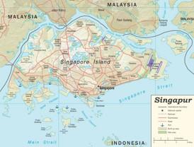 Straßenkarte von Singapur