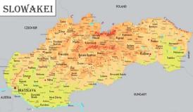 Physische landkarte von Slowakei