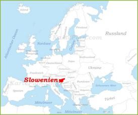 Slowenien auf der karte Europas