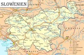 Slowenien politische karte