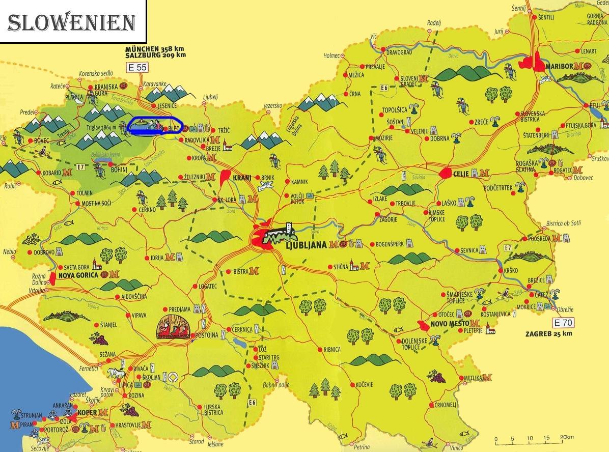 slowenien karte Slowenien touristische karte